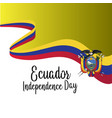 ecuador independence day background template vector image