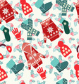Flat collection of winter clothes and accessories vector image