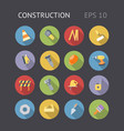 Flat icons for construction and industry vector image