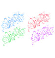 floral decorative ornaments flower branch vector image vector image