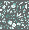 gentle flower seamless pattern vector image vector image