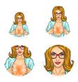 girl censored blur breast pop art avatars vector image vector image