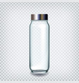 glass bottle closed by silver cap for water vector image vector image