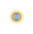 globe sun logo icon design vector image