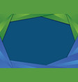 green and blue triangle frame border vector image