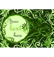 Green floral background with place for your text vector image
