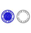 grunge spam email scratched stamp seals vector image vector image