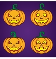 Halloween cartoon pumpkin jack lantern vector image vector image