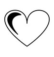 heart love isolated icon vector image