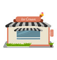 ice-cream shop street store building facade vector image