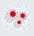 icons for medical specialties allergology vector image