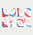 independence day of america template set for vector image