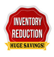 inventory reduction label or sticker vector image