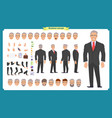 manager character creation set vector image