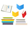 many books icons isolated in white flat vector image