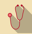 medical stethoscope or phonendoscope isolated on vector image