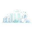 mexico city skyline on a white background vector image vector image