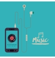 mobile music design vector image