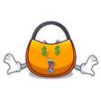 money eye hobo bag shape on a cartoon vector image