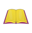 Open book with text icon cartoon style vector image