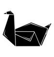 origami swan icon simple black style vector image vector image