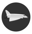 Plane icon gray monochrome style vector image vector image