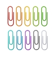 rainbow colorful clips set vector image