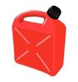 red plastic jerrican vector image