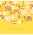 religion pattern catholic church vector image vector image