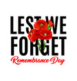 remembrance day poppy icons vector image