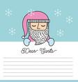 santa claus list present message christmas vector image
