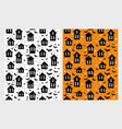 scary houses and bats patterns vector image vector image