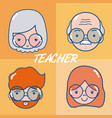 school teachers cartoons vector image