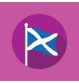 Scotland flag flat icon vector image vector image