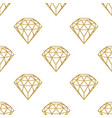 seamless pattern geometric golden foil diamonds vector image vector image