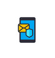 secure mail flat icon vector image
