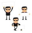 security guard cartoon vector image