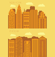 Set 2 flat background city NewYork and Phoenix vector image vector image