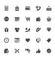 Shopping and Commerce Icon on White Background vector image