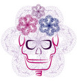 skull with flourishes vector image vector image