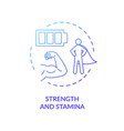strength and stamina blue concept icon