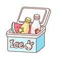 The bottles in an ice box vector image vector image