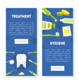 treatment hygiene vertical banners templates set vector image vector image
