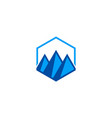 triangle abstract mountain logo vector image vector image