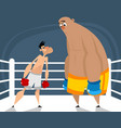 two boxers in the ring vector image