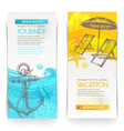 Vacation and travel vertical banners vector image vector image