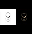 vr initial letter and graphic name v r monogram vector image vector image