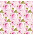 Watercolor pink Rose Flowers pattern vector image vector image