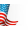 waving flag of usa with blur effect white vector image