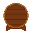 wood barrel of beer icon flat style vector image